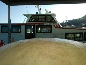 犬島行きの船