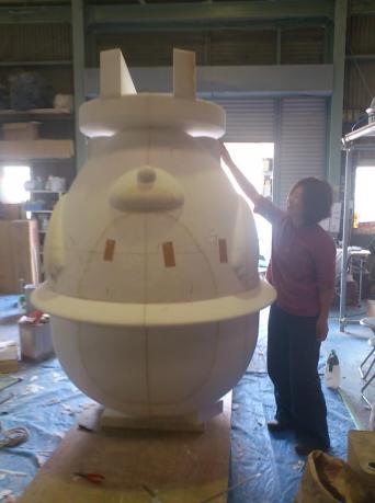 大型造形の発泡スチロール原型