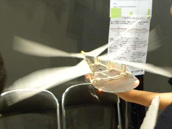 メイカーズフェア2012にて羽ばたく飛行機2