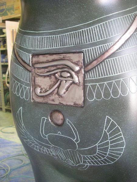 バステトレプリカ彫り模様