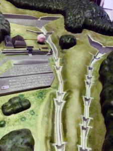 砂防ダムジオラマ構造