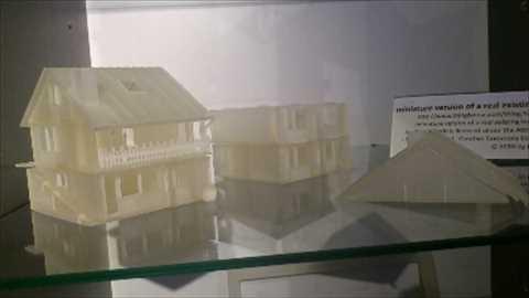 3Dプリントした住宅模型