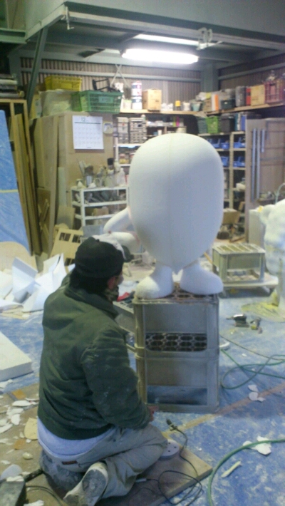 スチロール造形製作工程