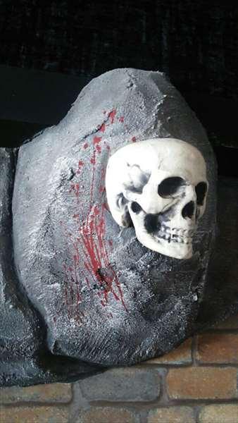 擬岩と骸骨エージング塗装1