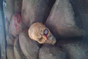 擬岩と骸骨エージング塗装3