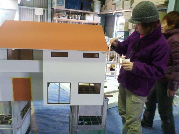 製作中2住宅模型30分の1
